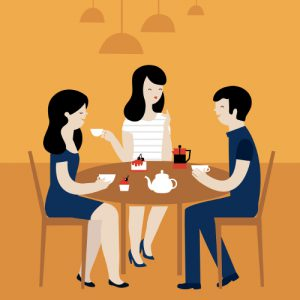 Friends at Table Talking