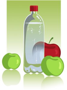 Water Bottle and Apples