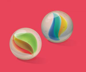 Two Glass Marbles