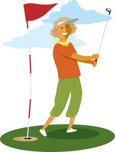 Senior Lady Golfing