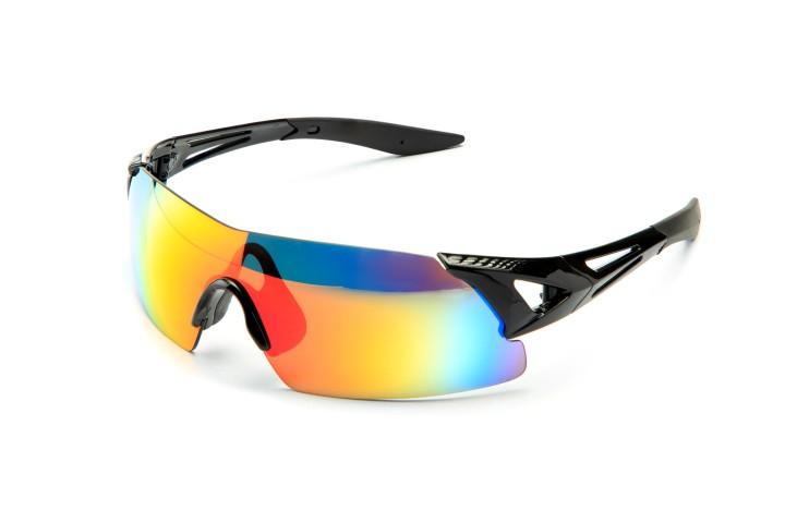 Modern stylish black sports bike sun glasses
