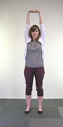 Yoga Pose Interlaced Fingers