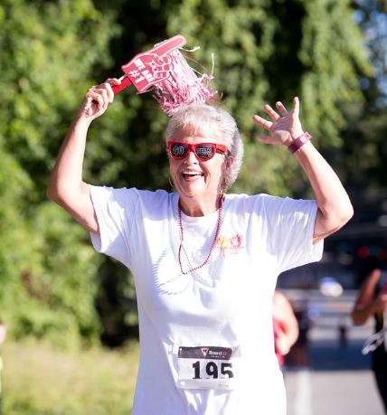 woman in a run