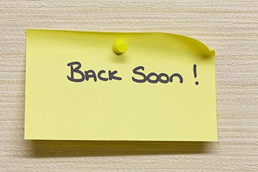 Back Soon note