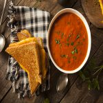 grilled cheese with tomato soup comfort food